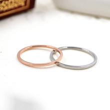 Роуз позолоченные titanium стальные тонкие Кольца Женская мода Ювелирные Изделия простой Кольца не выцветают 1 шт.(China (Mainland))