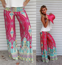 Hot sale 2015 summer printed straight trousers palazzo pants womens high waisted pants women floral wide leg pants Exuma Pant(China (Mainland))