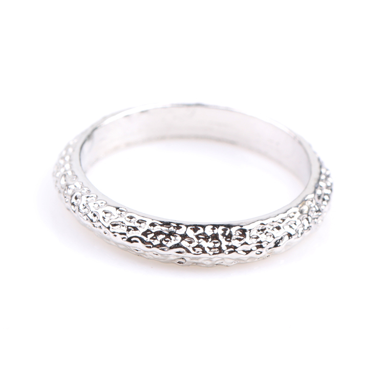 New Fashion Women Men Simple Style Couple Rings Scrub Bright Silver Color Fashion Accessories Drop Shipping RING-0097-SV(China (Mainland))