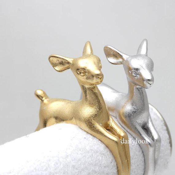 bambi ring, deer ring, adjustable ring, retro ring, cute ring, animal wrap ring, man ring, burnished ring, animal jewelry, bambi, deer
