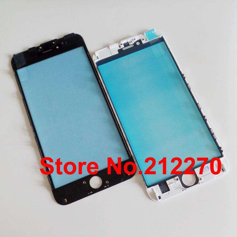 High Quality New Front Outer Screen Glass Lens + Frame Replacement For iPhone 6S Plus(China (Mainland))