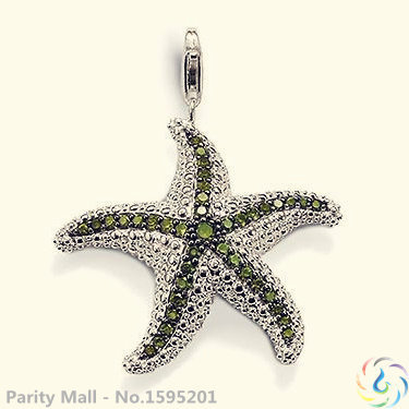 Green Starfish Classic Pendant Thomas Style Glam And Soul Fashion Lovers' Jewerly For Women In silver-plated(China (Mainland))
