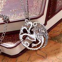 The Song Of Ice And Fire Game Of Thrones Daenerys Targaryen Dragon Badge Necklace Unisex Necklaces Of Juego De Tronos