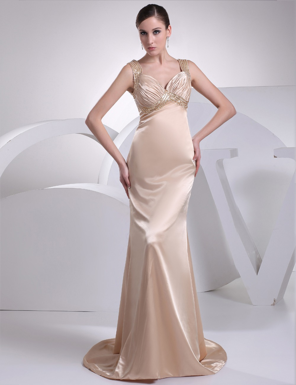 Don 39 S Bridal Empire Spaghetti Strap Sleeveless Formal