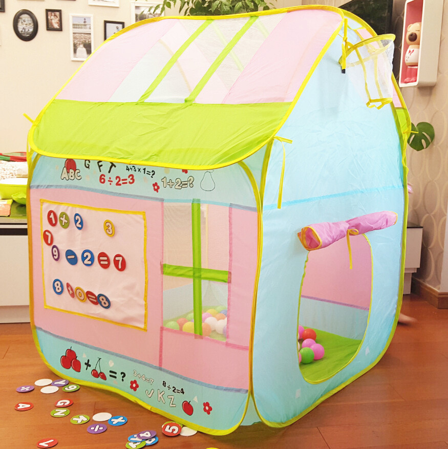 New Arrive Quality Kids Play Tent Play Game House Indoor Outdoor Toy Tent Children Baby Beach Tent ,Kids Present ZP02014<br><br>Aliexpress