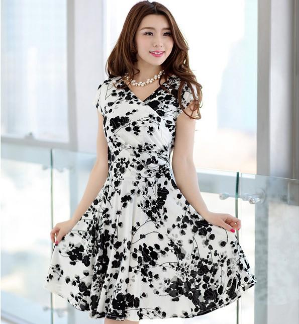 2015 Vestidos Desigual Summer Women Print Dresses V-neck Short Sleeve Long Vintage Dresses Plus Size Women Clothing Work Dress(China (Mainland))
