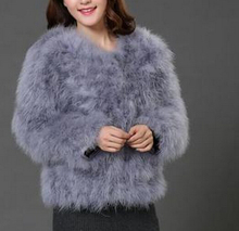 10 colors fashion sexy Ostrich wool turkey fur 2015 wool coat feather fur short jacket angelababy(China (Mainland))
