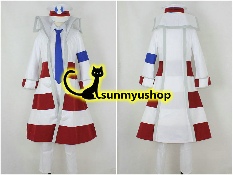 Free Shipping! Pocket Monster Black and white Pokemon Version Subway Master Kudari red line Cosplay Costume Acceptable order !Одежда и ак�е��уары<br><br><br>Aliexpress