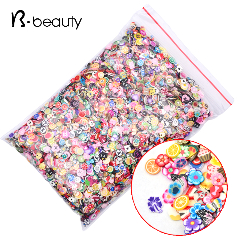 Гаджет  New 1000pcs/pack Nail Art 3D Fruit Feather Heart Tiny Fimo Slices Polymer Clay DIY Nail Sticker Decoration None Красота и здоровье