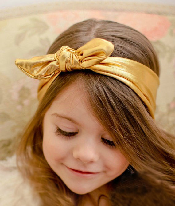 New 1 PCS Baby Girls Toddler Stretch Ear Turban Knot Hairband Rabbit Bow Headband Newest Kids Boutique Knot Headband(China (Mainland))