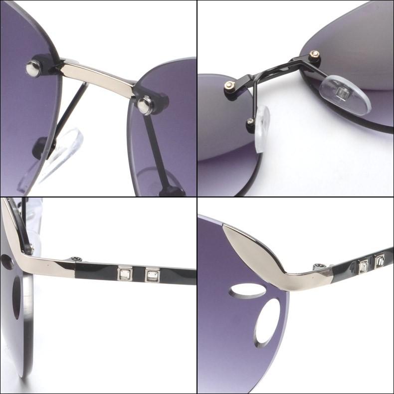 FRIDA 2016 Fashion women Rimless sunglasses Brand Designer Exclusive Embellishment Sunglasses Women Glasses Female