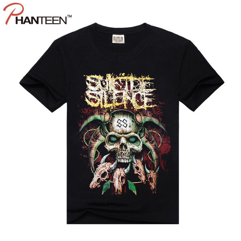 Rock And Roll 3d Skull Print Man T Shirt Darkness Metal