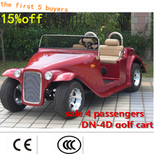 Moldbaby! CUSTOM electric 4 passenger golf cart sale DN-4D with CE GOLF CAR sightseeing bus Reception of the car(China (Mainland))