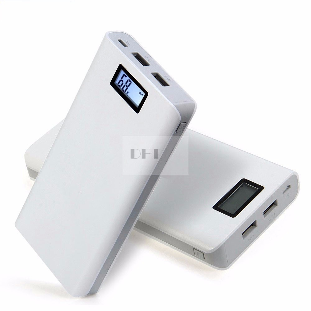 2016 New Portable Power Bank 20000mAh Triple USB LCD Display External Backup Battery powerbank for PHONES Universal Charger
