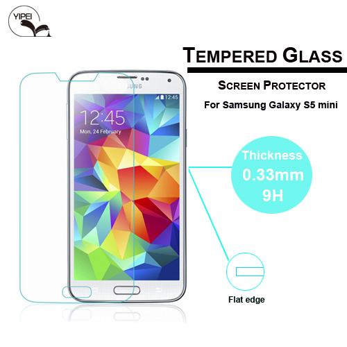 2014 New Arrival 9H Explosion-proof Tempered Glass Film Screen Protector for Samsung S5 mini Free Shipping&Wholesale(China (Mainland))