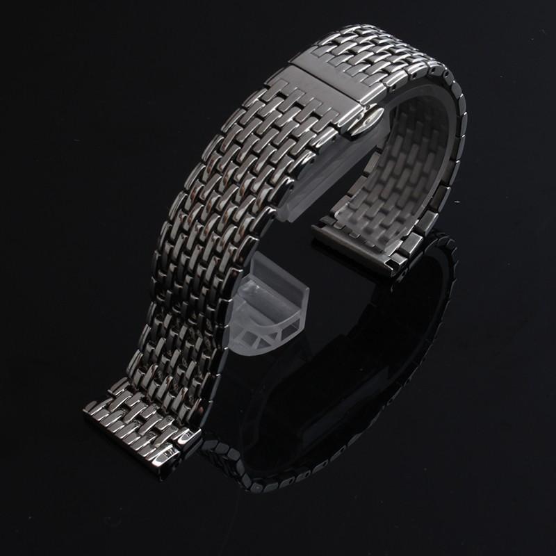 Продвижение Ремешок Для Часов Из Нержавеющей СТАЛИ Полированный Часы браслет ремешок 18 мм 20 мм 22 мм Золотые часы аксессуары для смарт-часы мужчины