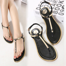 Women Sandals 2016 New Summer sequin Sandals Flip Flops size 35 to 41 Shoes Flat Sandal KJ341(China (Mainland))