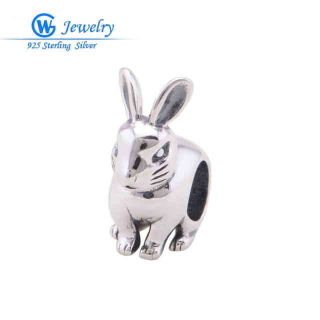 Милый Кролик Животных Европейский Серебряный Подвески Оптовая Стерлингового Серебра ...
