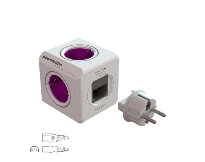 Allocacoc Extended PowerCube Socket DE Plug 5 Outlets 4 Switched Adapter Plug Extension Adapter Office Multi Switched Socket(China (Mainland))