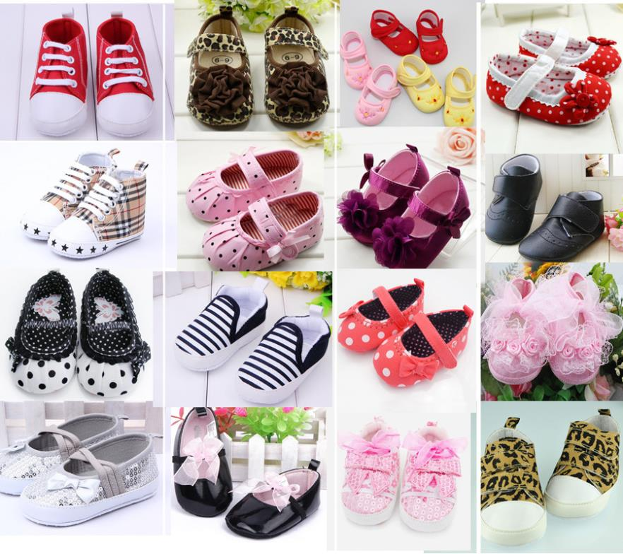 Cute Baby Girls Boy First Walkers Toddler Shoes Boots Multi color Dot Bow Children s Shoes