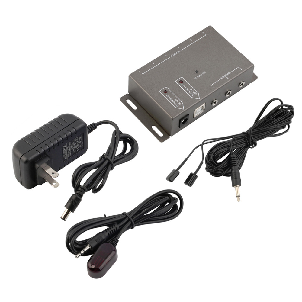 New IR Infrared Remote Control Repeater Extender AV Kit 4 Emitters 1 Receiver Wholesale(China (Mainland))