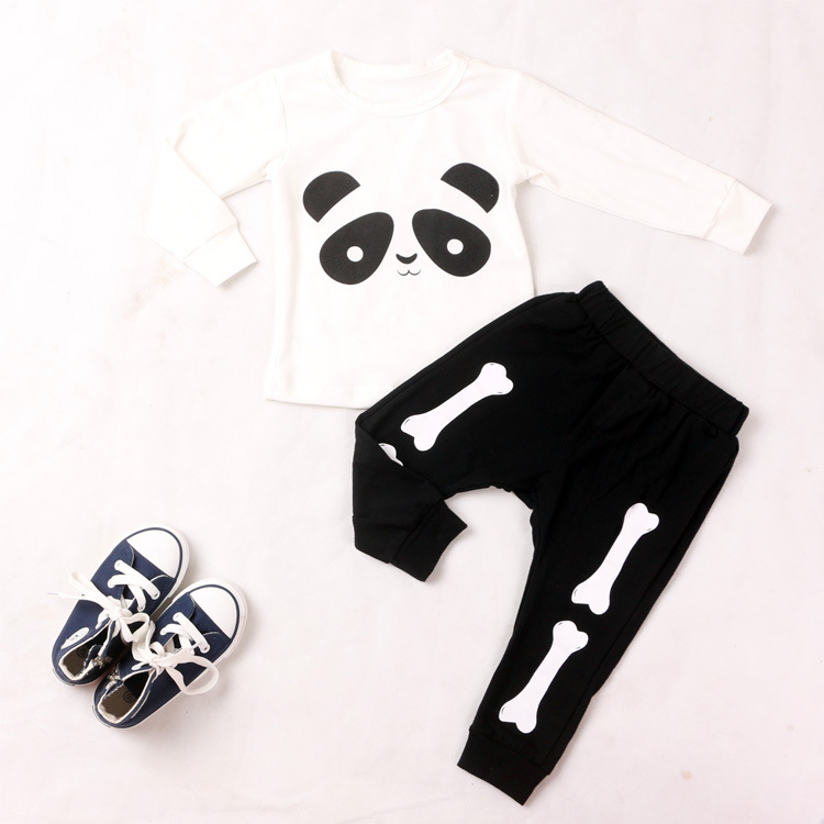 2016 Hot Bobo Casual Baby Harem Pants For Kids Cotton Brand Black Skull Sports Boys Trousers Designers Pattern Toddler Clothing(China (Mainland))