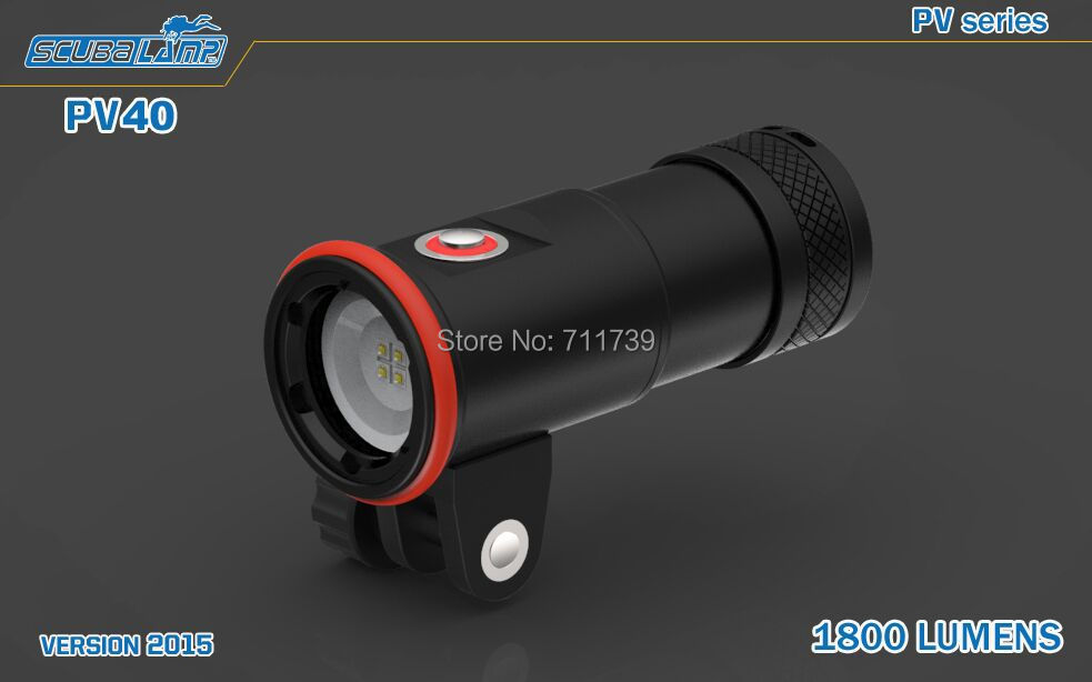 2015 NEW SCUBAlamp PV40 1800 Lumens LED Photo / Video Light Cree XP-G2 R5 LEDs Underwater Lamp Torche Diving Flashlight Lanterna<br><br>Aliexpress