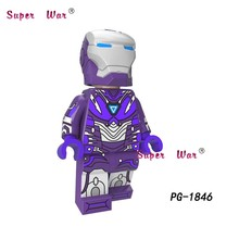 Único Anti-Veneno Maravilha Mulher Cabo Aquaman Cyclops Pepper Potts Homem De Ferro Aranha building blocks brinquedos para crianças(China)