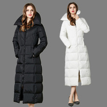 High Quality X-long Duck Down Jacket 2016 Brand New Winter Long Women Coat Stand Collar Euopean Thickening Parkas Plus Size
