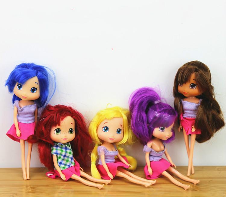 New style STRAWBERRY SHORTCAKE chilren child girl toy best gift 15cm doll 1pcs cake Decorate doll(China (Mainland))
