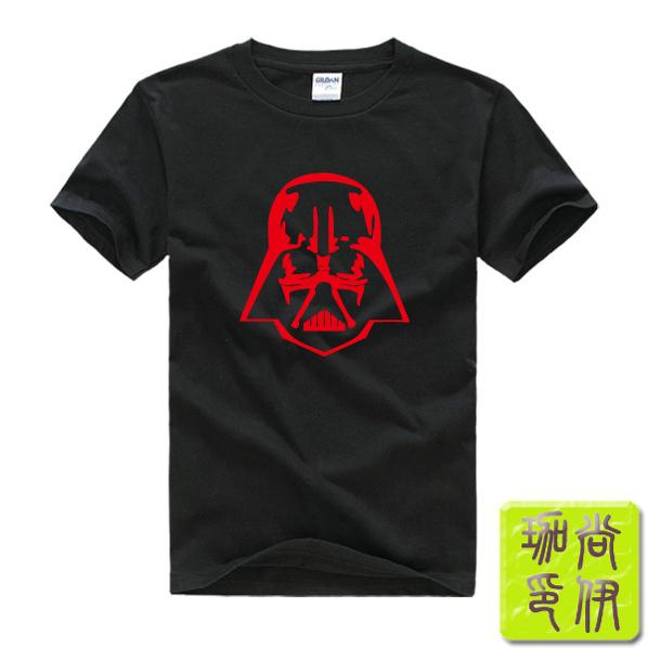 Star Wars Darth Vader Printed Mens Men T Shirt Tshirt Fashion 2015 New Short Sleeve O Neck Cotton T-shirt Tee(China (Mainland))