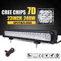 Oslamp 7D CREE Chips 240W 23inch LED Light Bar Beam Combo Led Work Lamp Offroad Led