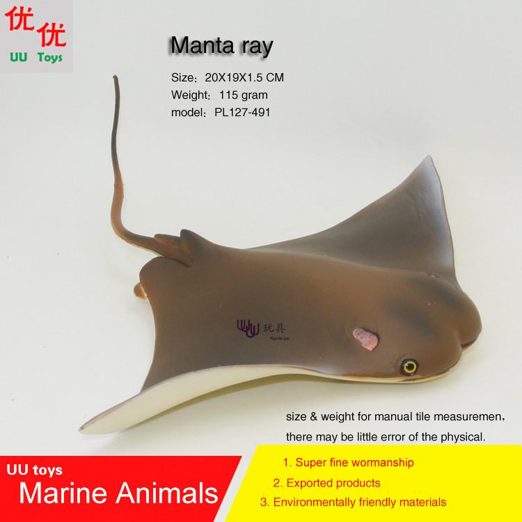 Hot toys devil rays flying rays Manta ray Simulation model Marine Animals Sea Animal kids gift educational props Action Figures(China (Mainland))