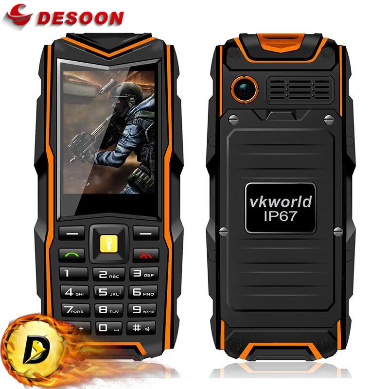 "rugged phone Original Stone V3 Vkworld VKV3 2.4"" Mobile Phone big battery power bank GSM 5200mAh 2MP Dual Sim cellular Phone(China (Mainland))"