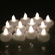 48 шт. плавающие свечи свадьба вела пункт casamento из светодиодов bougie mariage для украшения венчания velas де из светодиодов с желтым velas boda
