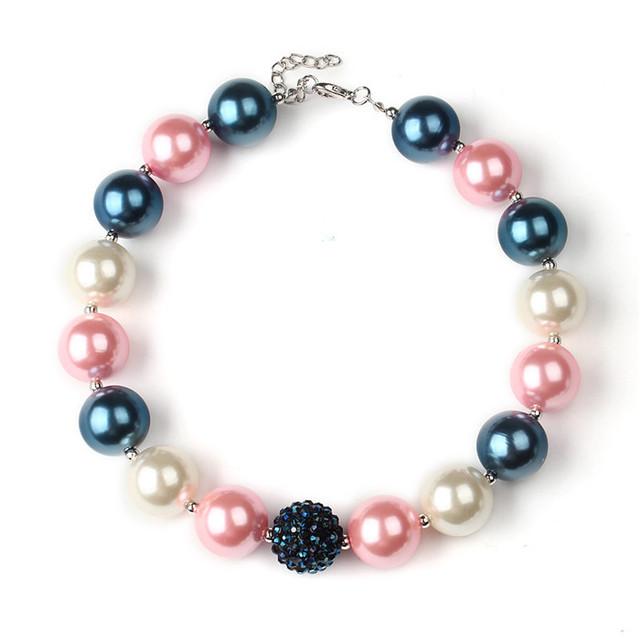1 шт. мода июля коренастый Gumball бусины жевательная резинка ожерелье 37 см дети ...