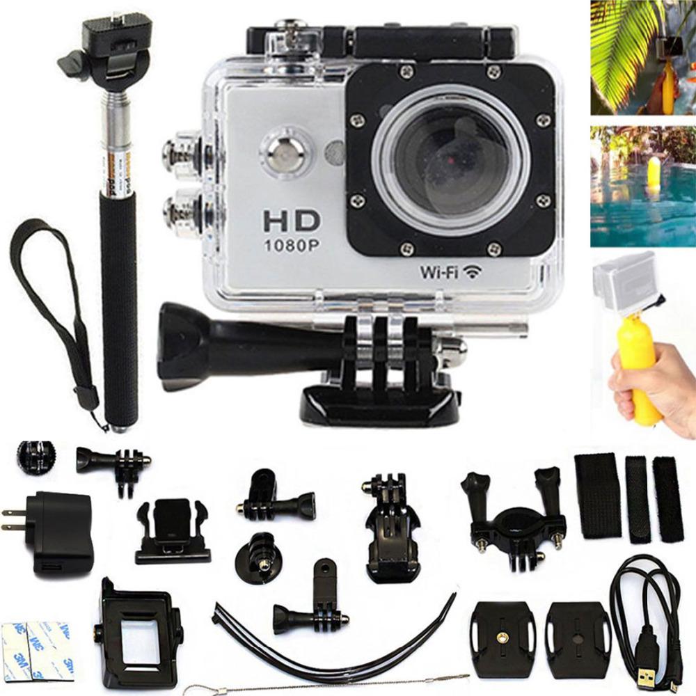 Floating Grip+Monopod Holder Selfie+  White 2.0 LCD WiFi SJ6000-w9 Action Sports Waterproof Camera as GOPRO SJCAM SJ4000 SJ5000<br><br>Aliexpress