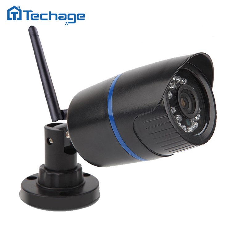 Techage 720P Wireless Wired IP Camera HD 1.0MP Waterproof P2P ONVIF WIFI Camera Motion Detect Nignt Vision Home CCTV Security(China (Mainland))