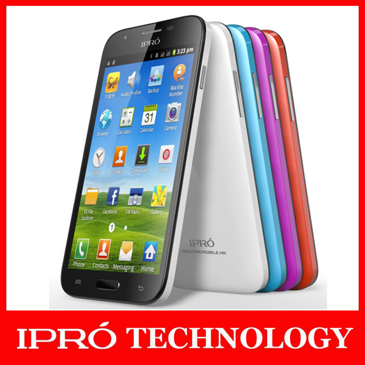 100% Original iPro 5 inch 3G Smartphone V5 MTK6572 Dual Core 1.2G Jellybean Android 4.2 Cell Phones WCDMA 2100 Dual SIM Celular(China (Mainland))