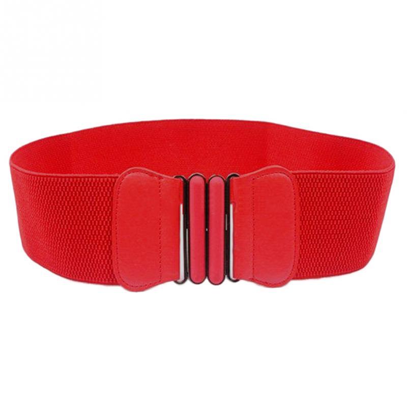 new fashion s elastic wide belt stretch