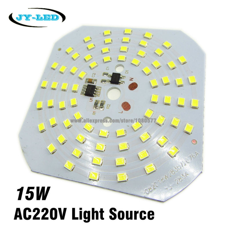 10pcs 15W SMD2835 220v Lamp Plate Integrated IC Driver High Bay Light LED PCB, Directly Needn't Driver Light Source Panel(China (Mainland))