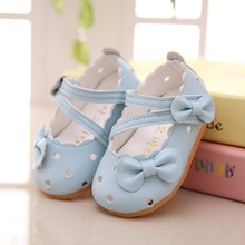 2016 summer new Hollow PU Toddler shoes Baby princess shoes Soft bottom non-slip baby toddler shoes Z&L243