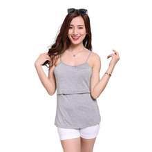 Summer Breastfeeding Cross Modal Soft Vests Top Nursing Feeding Maternity Clothes Summer Blouse Pregnant Tops Vest YYT265(China (Mainland))