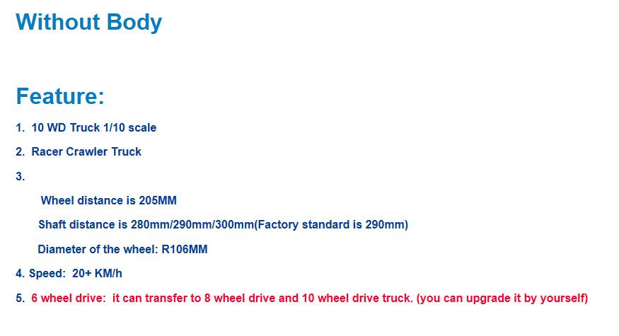 [nouveauté] 10X10  1/10 Scale Rock Crawler !! 590€ fdpin NEW-10-Wheels-Drive-1-10-Scale-Rock-Crawler-Surpass-Wild-Gallop-10x10-Truck-w-o