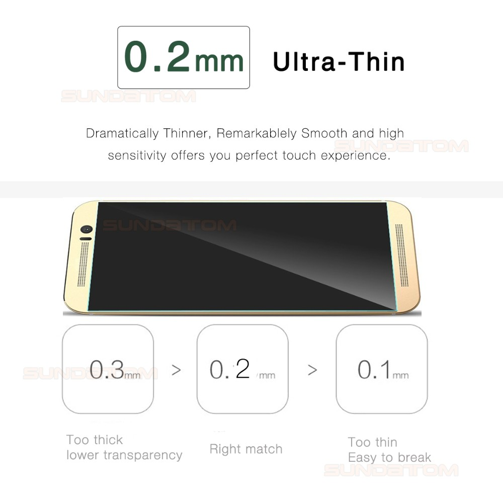 Sundatom M9 Screen Protector Explosion-Proof Anti Shatter Tempered Glass Film For HTC one M8 M9 M9+ plus HTC Desire 820 816 826