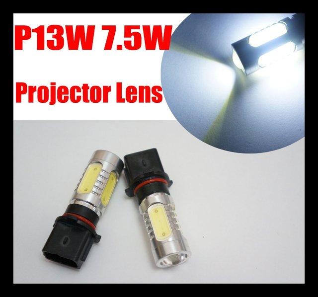 2pcs / pair P13W LED High Power Xenon White Daytime Fog Lights 7.5W Bulbs for Chevy Camaro RS, Skoda Yeti, Audi A4 8K 2