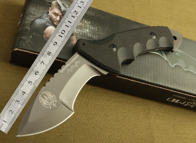 Free Shipping Italy Fix Blade Knife Hunting Knife 7Cr17mov Blade G10 Handle Fighting Knife(China (Mainland))