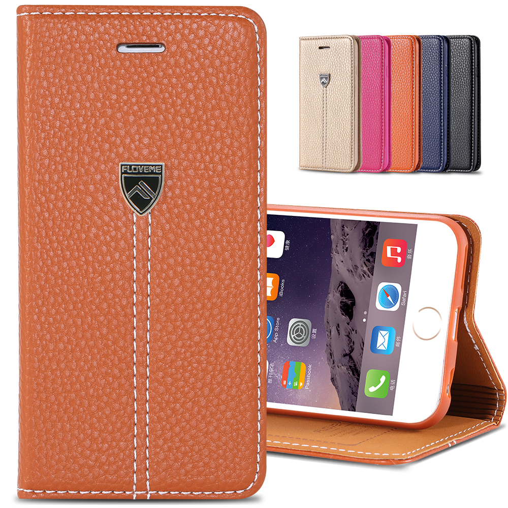 Best Quality!! Origianal Case for iphone 6 4.7 Luxury Leather flip Cover for apple plus 5.5 stand display cell phone bags cable(China (Mainland))