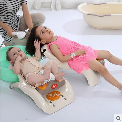 Children Shampoo Chair Baby Shampoo Bed Children Shampoo Chair Adjustable Folding Lengthened And Thickened(China (Mainland))