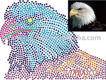 hot fix motif,eagle motif,heat transfer